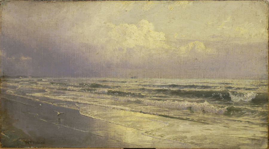 Oil sketches at CFAM - William Trost Richards, New Jersey Seascape – Atlantic City