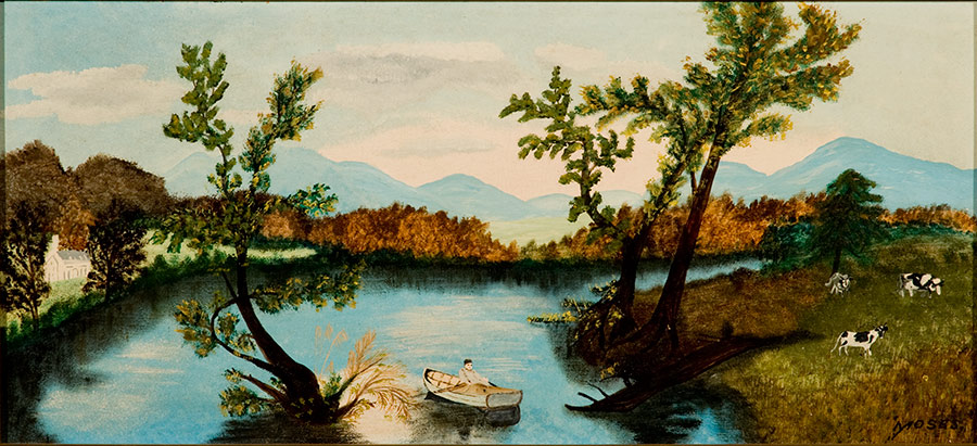 Anna Mary Robinson Moses (Grandma Moses), Out on the Lake, Cornell Fine Arts Museum, Rollins College